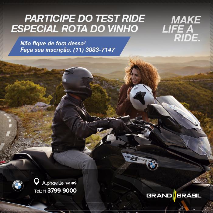 Grand Brasil convida você para um Test Ride especial
