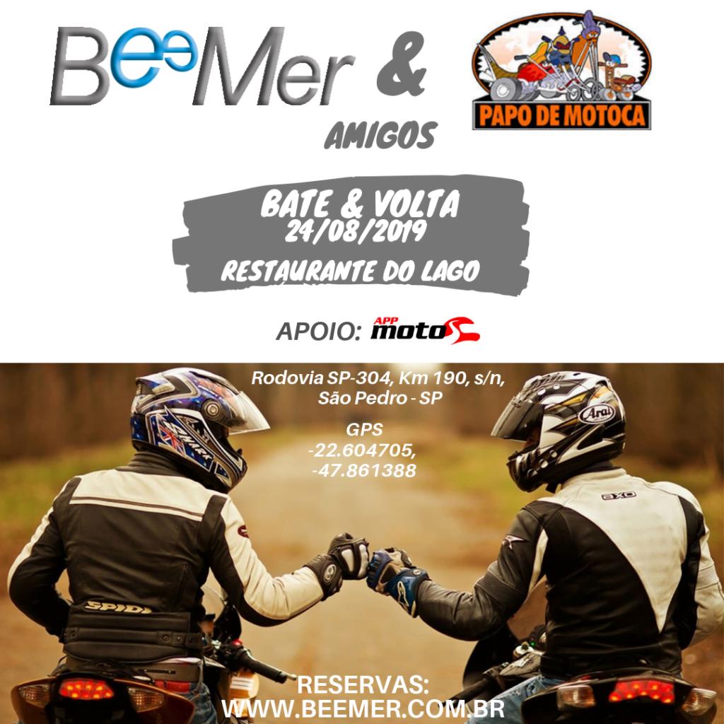 BeeMer & Papo de Motoca convidam você para um passeio bate&volta