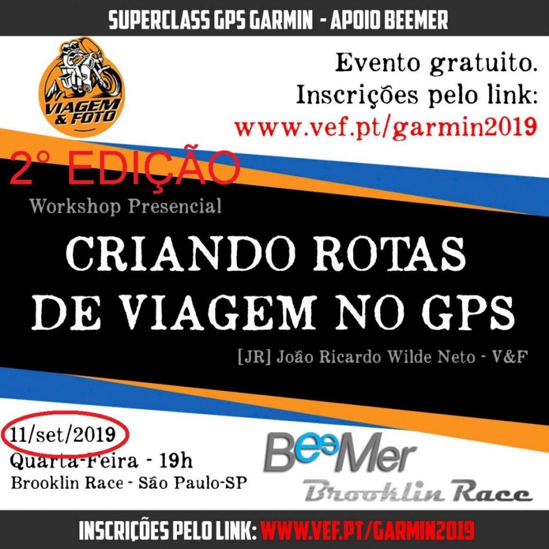 BeeMer, em parceria com João Ricardo, promove 2° curso gratuito de GPS Garmin